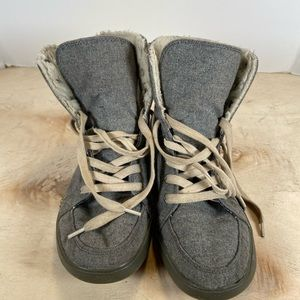 Rocket Dog Top High Top Gray Boots Size 7.5 Women